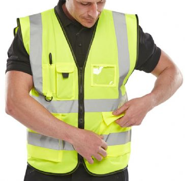 B Seen Hi Vis Executive Vest WCENGEXEC